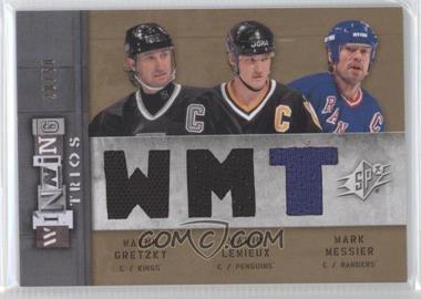 2009-10 SPx - Winning Trios #WT-CPT - Wayne Gretzky, Mario Lemieux, Mark Messier /50