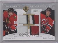 Patrick Kane, Zach Parise [Near Mint] #/25