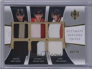 2009-10 Ultimate Collection - Ultimate Patches Triple #UJ3-CRT - Sidney Crosby, Jonathan Toews, Mike Richards /10