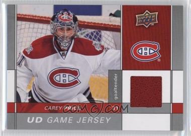2009-10 Upper Deck - Game Jersey #GJ-CP - Carey Price