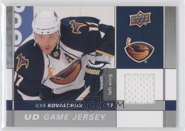 2009-10 Upper Deck - Game Jersey #GJ2-IK - Ilya Kovalchuk