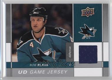2009-10 Upper Deck - Game Jersey #GJ2-RB - Rob Blake