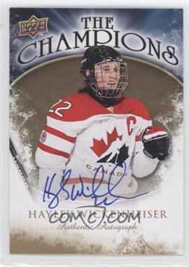 2009-10 Upper Deck - The Champions - Gold Autograph [Autographed] #CH-HW - Hayley Wickenheiser