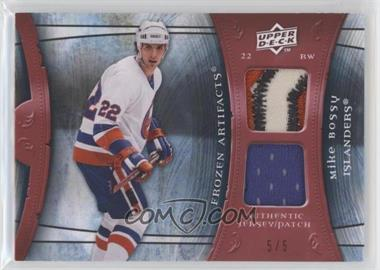 2009-10 Upper Deck Artifacts - Frozen Artifacts - Red Jersey/Patch #FA-BO - Mike Bossy /5