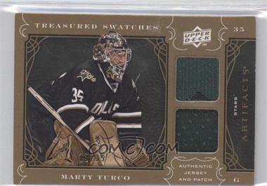 2009-10 Upper Deck Artifacts - Treasured Swatches - Copper Jersey/Patch #TS-MT - Marty Turco /35