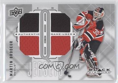 2009-10 Upper Deck Black Diamond - Quad Jerseys #QJ-MB - Martin Brodeur