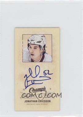 2009-10 Upper Deck Champ's - Mini Signatures #CS-ER - Jonathan Ericsson