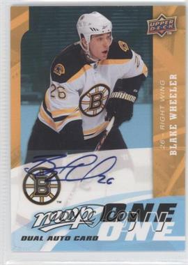 2009-10 Upper Deck MVP - One on One Dual Autographs - [Autographed] #A-PW - Blake Wheeler, Jason Pominville
