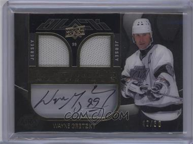 2009-10 Upper Deck UD Black - Lustrous Materials Auto Dual Jersey #LM-WG - Wayne Gretzky /50