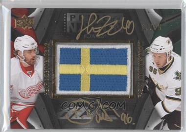 2009-10 Upper Deck UD Black - Pride of a Nation Dual Auto Patches #PN2-ZB - Fabian Brunnstrom, Henrik Zetterberg /25