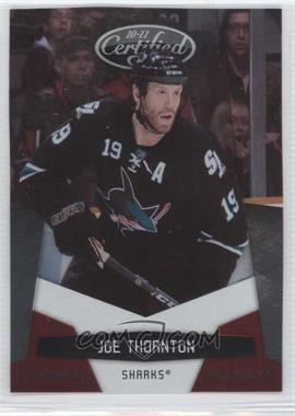 2010-11 Certified - [Base] - Platinum Red #121 - Joe Thornton /999