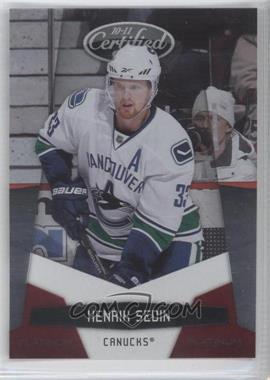 2010-11 Certified - [Base] - Platinum Red #139 - Henrik Sedin /999
