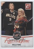 Willa Ford (Posed with Mike Modano)