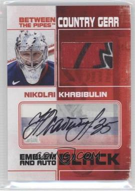 2010-11 In the Game Between the Pipes - Country Gear Emblem and Auto - Black #CGMA-NK - Nikolai Khabibulin /6