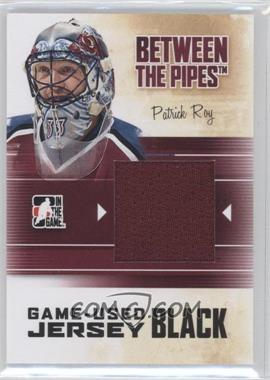2010-11 In the Game Between the Pipes - Game-Used - Black Jersey #M-75 - Patrick Roy /120