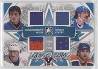 John Vanbiesbrouck, Mike Bossy, Michel Goulet, Paul Coffey #/1