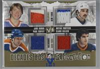 Jari Kurri, Paul Coffey, Bryan Trottier, Clark Gillies [Noted] #/1