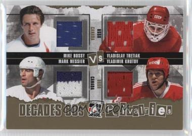 2010-11 In the Game Decades 1980s - Rivalries - Gold #R-12 - Mike Bossy, Vladislav Tretiak, Mark Messier, Vladimir Krutov /10