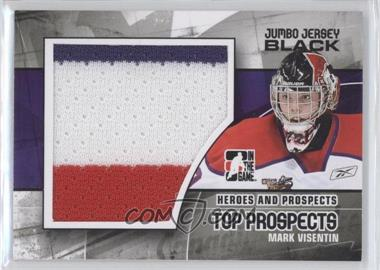2010-11 In the Game Heroes and Prospects - Top Prospects - Jumbo Black Jersey #JM-12 - Mark Visentin