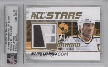 2010-11 In the Game Ultimate Memorabilia 10th Edition - All-Stars - Gold #5190 - Mario Lemieux /1 [ENCASED]