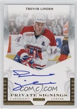 2010-11 Panini Dominion - Private Signings #TL2 - Trevor Linden