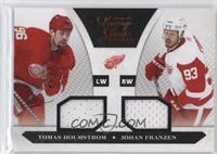 Dual Jersey - Johan Franzen, Tomas Holmstrom #/599