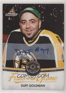2010-11 Panini Pinnacle - Fans of the Game - Autographs [Autographed] #3 - Duff Goldman