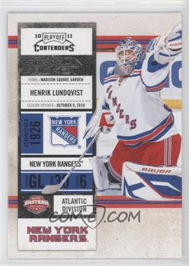 2010-11 Panini Playoff Contenders - [Base] #72 - Henrik Lundqvist
