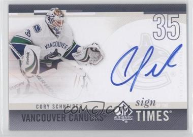 2010-11 SP Authentic - Sign of the Times #SOT-SC - Cory Schneider
