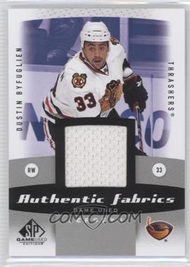2010-11 SP Game Used Edition - Authentic Fabrics #AF-DB - Dustin Byfuglien