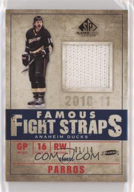 2010-11 SP Game Used Edition - Famous Fight Straps #FS-GP - George Parros /10