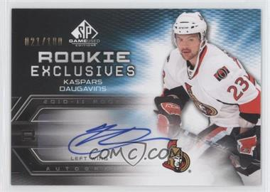 2010-11 SP Game Used Edition - Rookie Exclusives - [Autographed] #RE-KD - Kaspars Daugavins /100