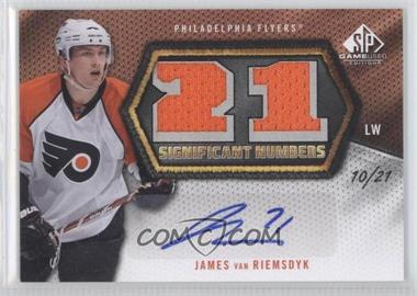 2010-11 SP Game Used Edition - Significant Numbers - [Autographed] #SN-JV - James van Riemsdyk /21