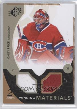 2010-11 SPx - Winning Materials #WM-CP - Carey Price