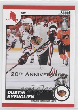 2010-11 Score - [Base] - 20th Anniversary #54 - Dustin Byfuglien