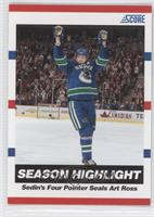Season Highlight - Sedin's Four Pointer Seals Art Ross (Henrik Sedin)