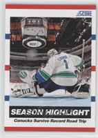 Season Highlight - Canucks Survive Record Road Trip (Roberto Luongo)