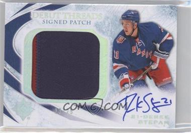 2010-11 Ultimate Collection - Debut Threads - Signed Patch [Autographed] [Memorabilia] #SDT-DS - Derek Stepan /25