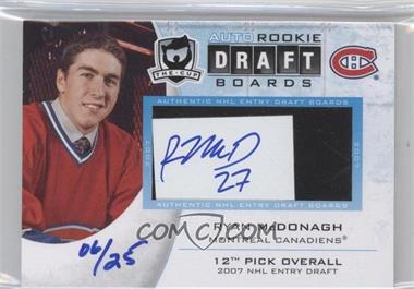 2010-11 Upper Deck The Cup - Auto Rookie Draft Boards - [Autographed] #DB-RM - Ryan McDonagh /25