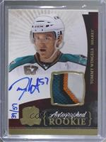 Autographed Rookies Patch Level 1 - Tommy Wingels [EX to NM] #/57