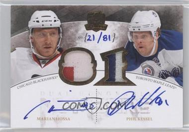 2010-11 Upper Deck The Cup - Honorable Numbers Patch Dual Autographs #DHN-HK - Marian Hossa, Phil Kessel /81