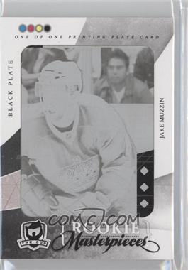 2010-11 Upper Deck The Cup - Masterpieces Upper Black Diamond - Printing Plate Black #BD-174 - Jake Muzzin /1