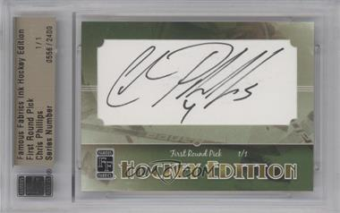 2010 Famous Fabrics Ink Hockey Edition - [Base] - [Autographed] #556 - First Round Pick - Chris Phillips /1