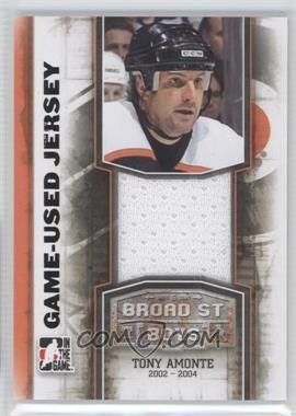 2011-12 In the Game Broad Street Boys Series - Game-Used Memorabilia - Black Jersey #M-01 - Tony Amonte