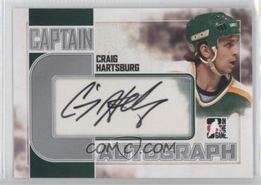 2011-12 In the Game Captain-C Series - Autograph - Silver #A-CH - Craig Hartsburg