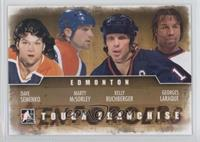 Dave Semenko, Marty McSorley, Kelly Buchberger, Georges Laraque