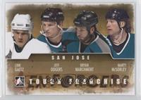 Link Gaetz, Jeff Odgers, Marty McSorley, Bryan Marchment