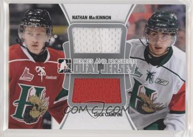 2011-12 In the Game Heroes and Prospects - Dual Jersey - Silver #DJ-03 - Nathan MacKinnon, Luca Ciampini /80