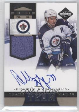 2011-12 Limited - Team Trademarks - Materials Signatures [Autographed] [Memorabilia] #3 - Dustin Byfuglien /49