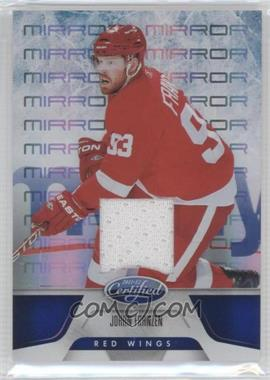 2011-12 Panini Certified - [Base] - Mirror Blue Materials [Memorabilia] #138 - Johan Franzen /99
